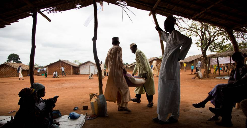 Refugiados centroafricanos en el campo de Timangolo, en el este de Camerún.