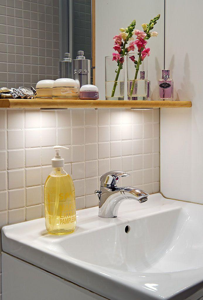 Cadiz Mirror With Light Pelmet amp; Shelf Bathroom City