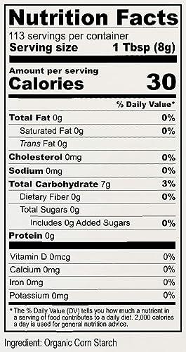 32 Corn Starch Nutrition Label Labels Database 2020