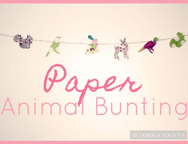 FavoriteDIY animalbunting