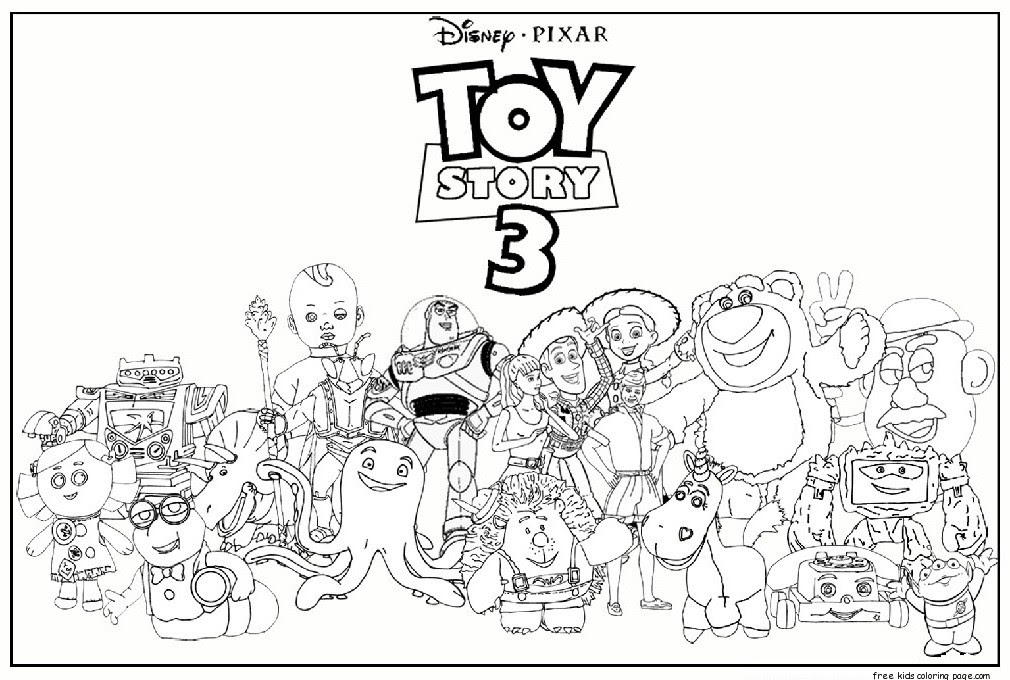 Printable toy story 3 characters coloring pages for ...