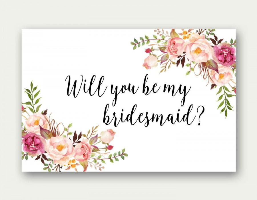 Will You Be My Bridesmaid Printable Bridesmaid Card Bridesmaid