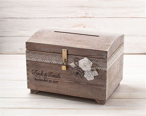 Wedding Card Box with Slot Lock Memory Card Holder