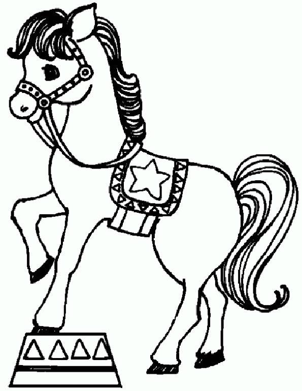 ausmalbilder von pferde