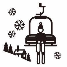 スキー場シルエット イラストの無料ダウンロードサイトシルエットac