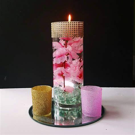 Wedding Centerpiece, Floating Candle Centerpiece, Pink