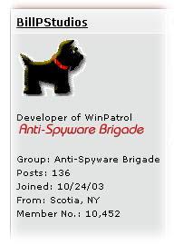 Example of Forum Member Credentials