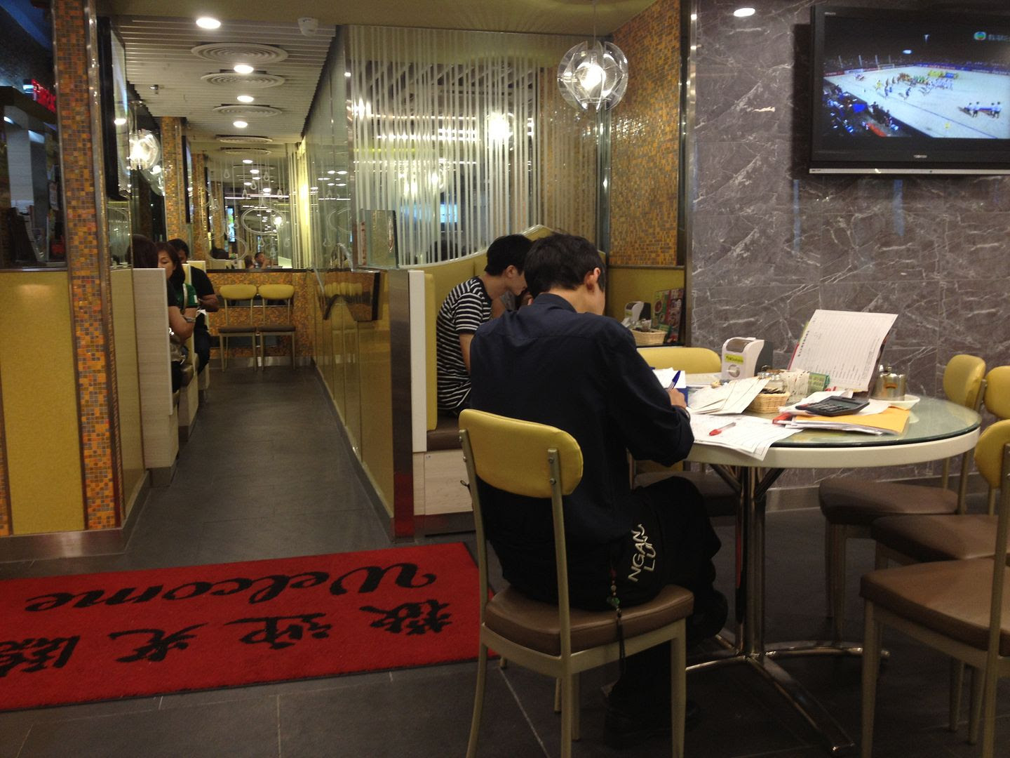 Do Your Accounting by Restaurant Entrance in Hong Kong photo 2013-09-29143831_zps803df9b7.jpg
