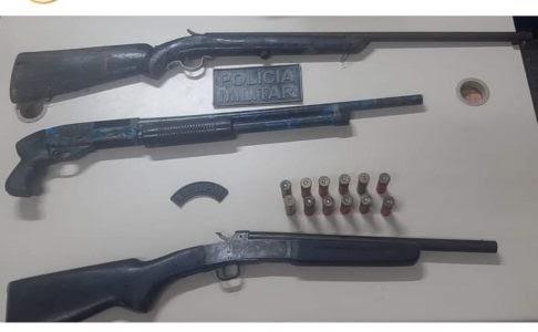 Polícia prende 3 armas de fogo no município na região metropolitana de Natal