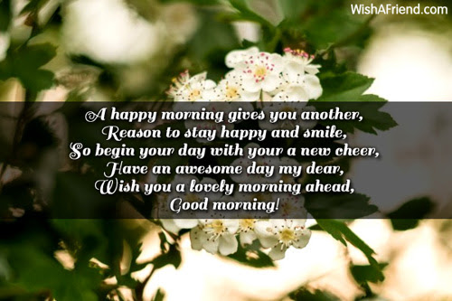 Good Morning Message A Happy Morning Gives You Another