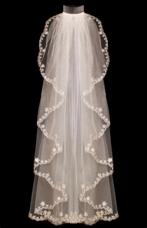Romantic Cascade Style Beaded Embroidery Fingertip Wedding