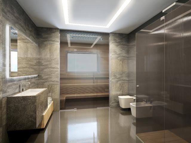 PENTHOUSE st. Gilyarovskogo - modern - bathroom - other metro - by ...