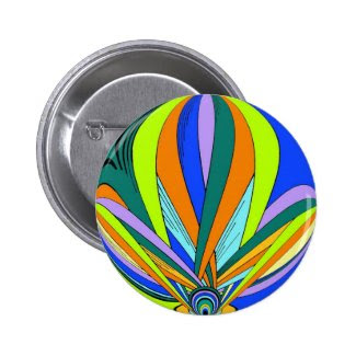 Kaleidescope styled product pinback button