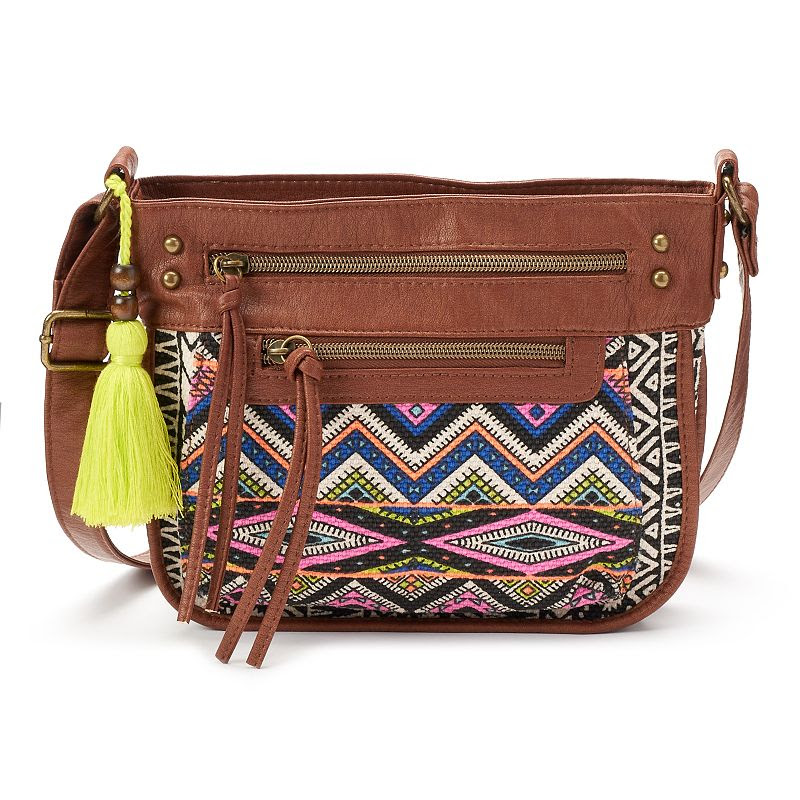 T-Shirt & Jeans Festival Muse Tribal Crossbody Bag, Women's, Red\/Coppr (Rust\/Coppr)
