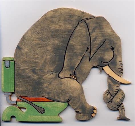elephant toilet door sign   Folksy