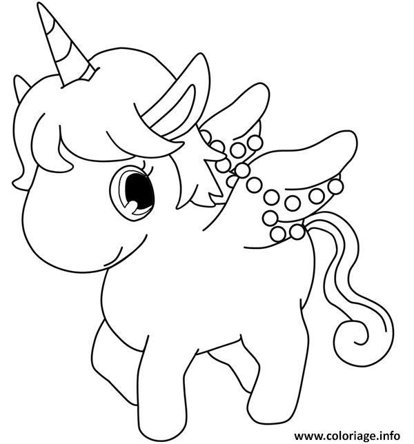 Coloriage Dessin Licorne Cute Kawaii Jecoloriecom