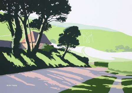 Alan TYERS-The Long Man at Wilmington, The South Downs