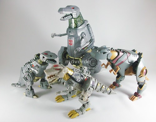 Transformers Grimlock Masterpiece vs G1 - modo alterno