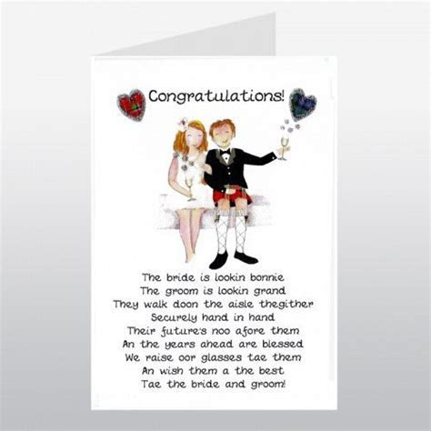 Scottish wedding congratulations   All types of cards