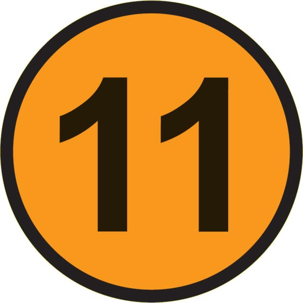 This picture shows the number 11 inside a circle.