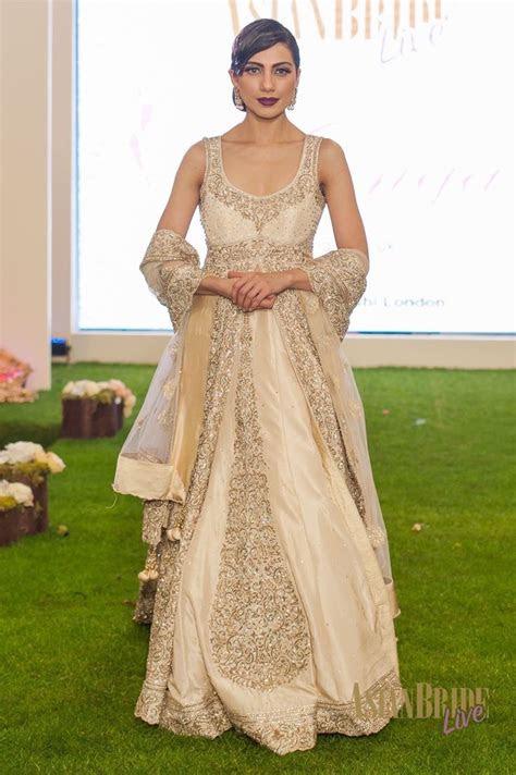 gold cream bridal lengha dress mongas indian pakistani