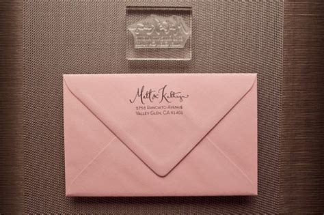 New Giveaway! Calligraphy Address Stamp from Kathryn Murray