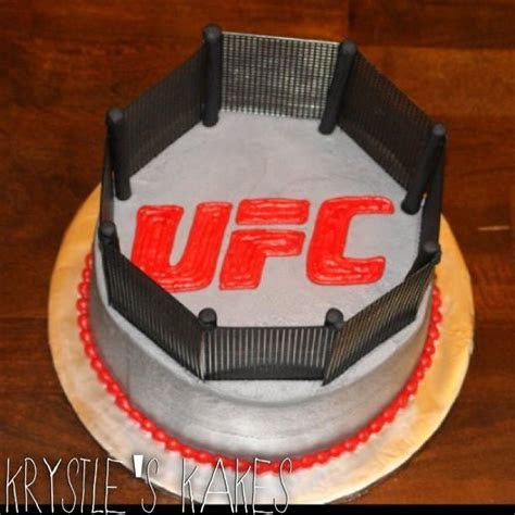 UFC fighting Octagon Groom's wedding Cake   cake life is