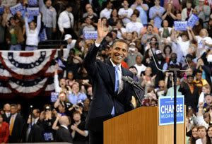 Barack Obama officially becomes President of the United States on January 20.