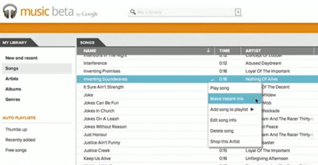 how to delete instant mixes on google play music
