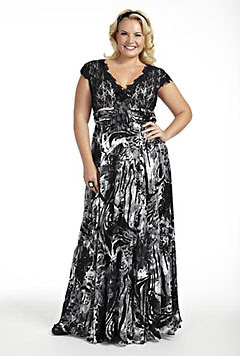 Elegant evening wear plus size
