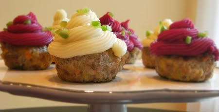 cupcakes for dinner?!? Meatloaf cupcakes for April Fool's Day