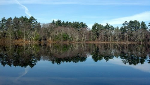 Franklin, MA: Spring Pond horizon view