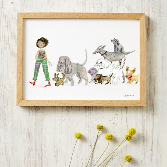 Dog Lovers A3 Print Top Sellers Ready Framed Prints Framed