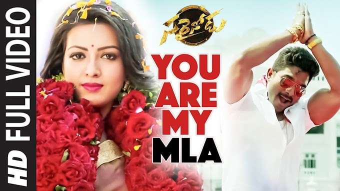 You Are My MLA Song Lyrics in Telugu | Sarrainodu Telugu Lyrics