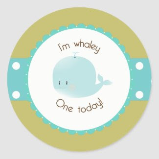 I'm Whaley One Today Cupcake Topper/Sticker sticker