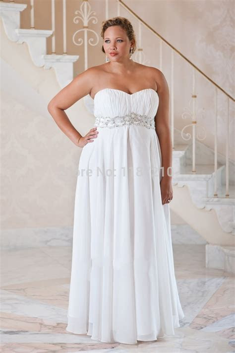 Long Cheap Plus Size Wedding Dresses 2015 Summer Beach
