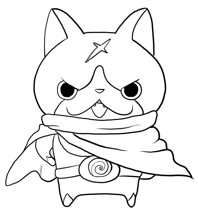 Youkai Watch Coloring Pages At Getcoloringscom Free Printable