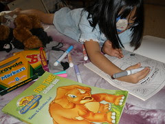 Olivia Coloring with New Markers