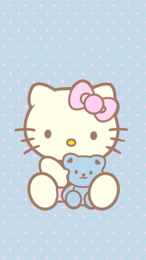 Hello Kitty Polka Dot Wallpaper By Desi Whi