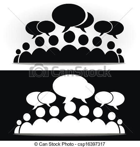 black  white social community forum