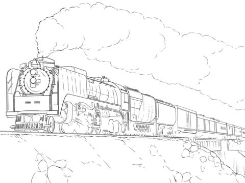 Coloriage Train De Lunion Pacifique Coloriages à Imprimer Gratuits