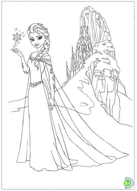 Dibujos de las Princesas de Frozen para pintar   Colorear