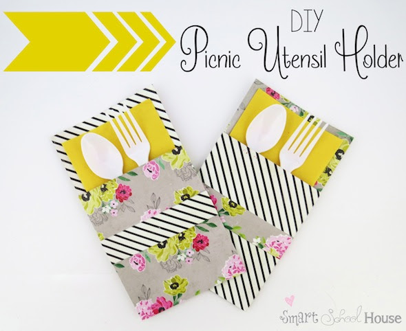 DIY Picnic Utensil Holder