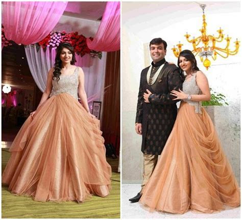 indo western gown for reception/engagement   weddings