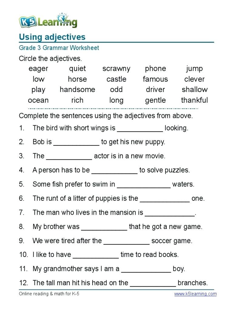 worksheet__english_grammar_worksheets_for_grade_4_1