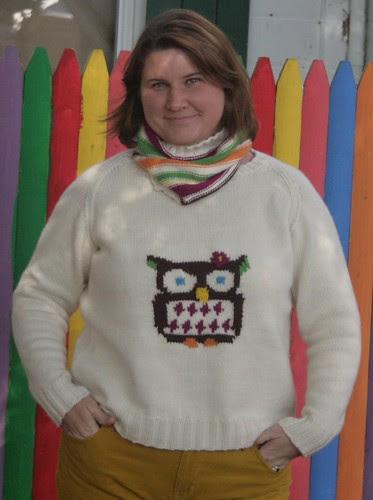 Owl sweater & cowl
