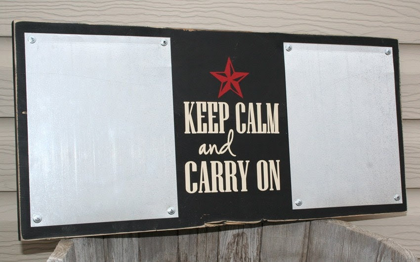 Wooden Decor/ Reminder Board: Keep Calm
