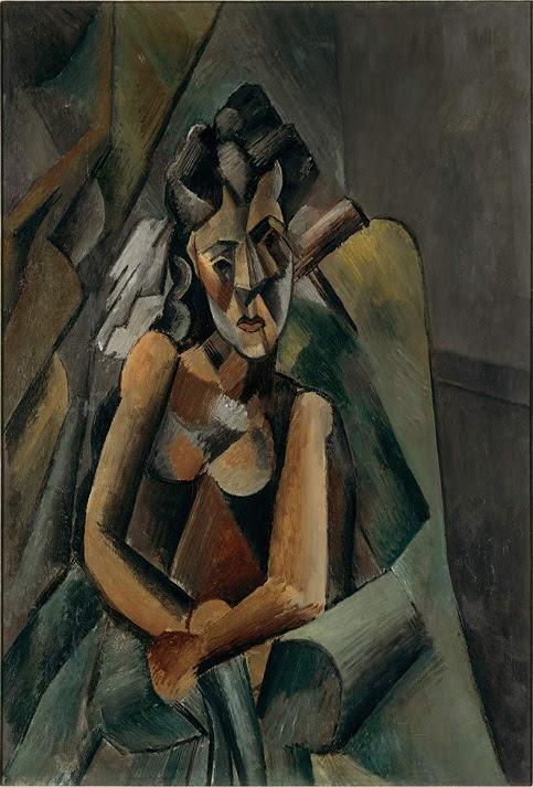 """""""Mujer sentada"""" fue realizada en 1909, esta obra se encuentra en Berlín."""