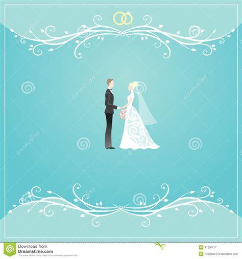 Wedding card stock vector. Illustration of blue, groom