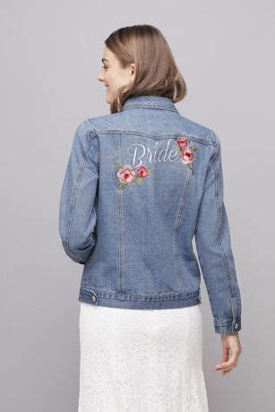 Embroidered Bride Denim Jacket   David's Bridal